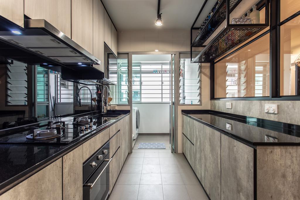 Contemporary, HDB, Kitchen, Sumang Lane, Interior Designer, Luova Project Services