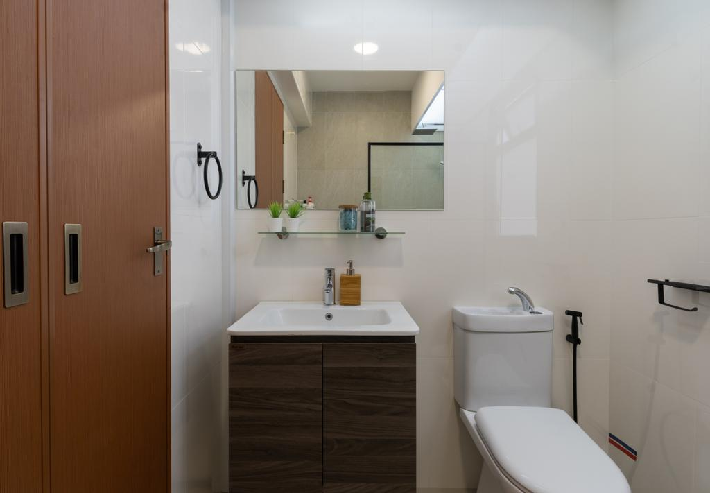 Contemporary, HDB, Bathroom, Tampines North Drive 1, Interior Designer, Yang's Inspiration Design
