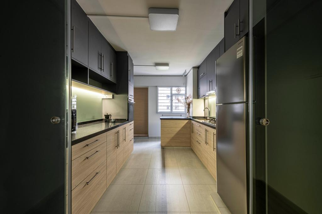 Contemporary, HDB, Kitchen, Ang Mo Kio Avenue 3, Interior Designer, Seven Heaven