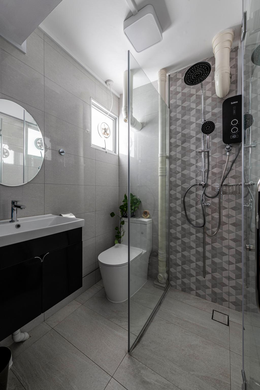 Contemporary, HDB, Bathroom, Ang Mo Kio Avenue 3, Interior Designer, Seven Heaven