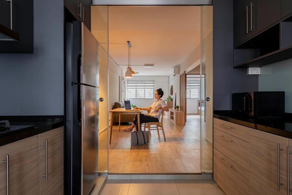 Contemporary, HDB, Dining Room, Ang Mo Kio Avenue 3, Interior Designer, Seven Heaven