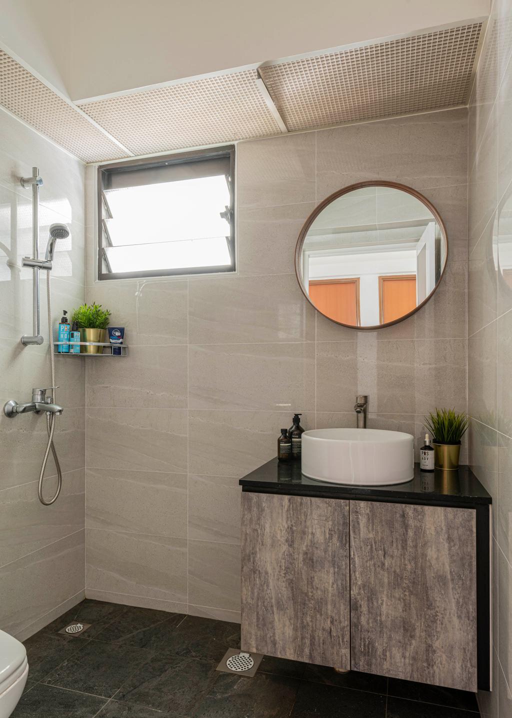 Modern, HDB, Bathroom, Segar Road, Interior Designer, Craftsmen Atelier, Contemporary