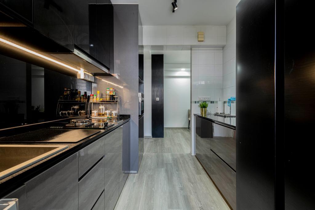 Modern, HDB, Kitchen, Segar Road, Interior Designer, Craftsmen Atelier, Contemporary
