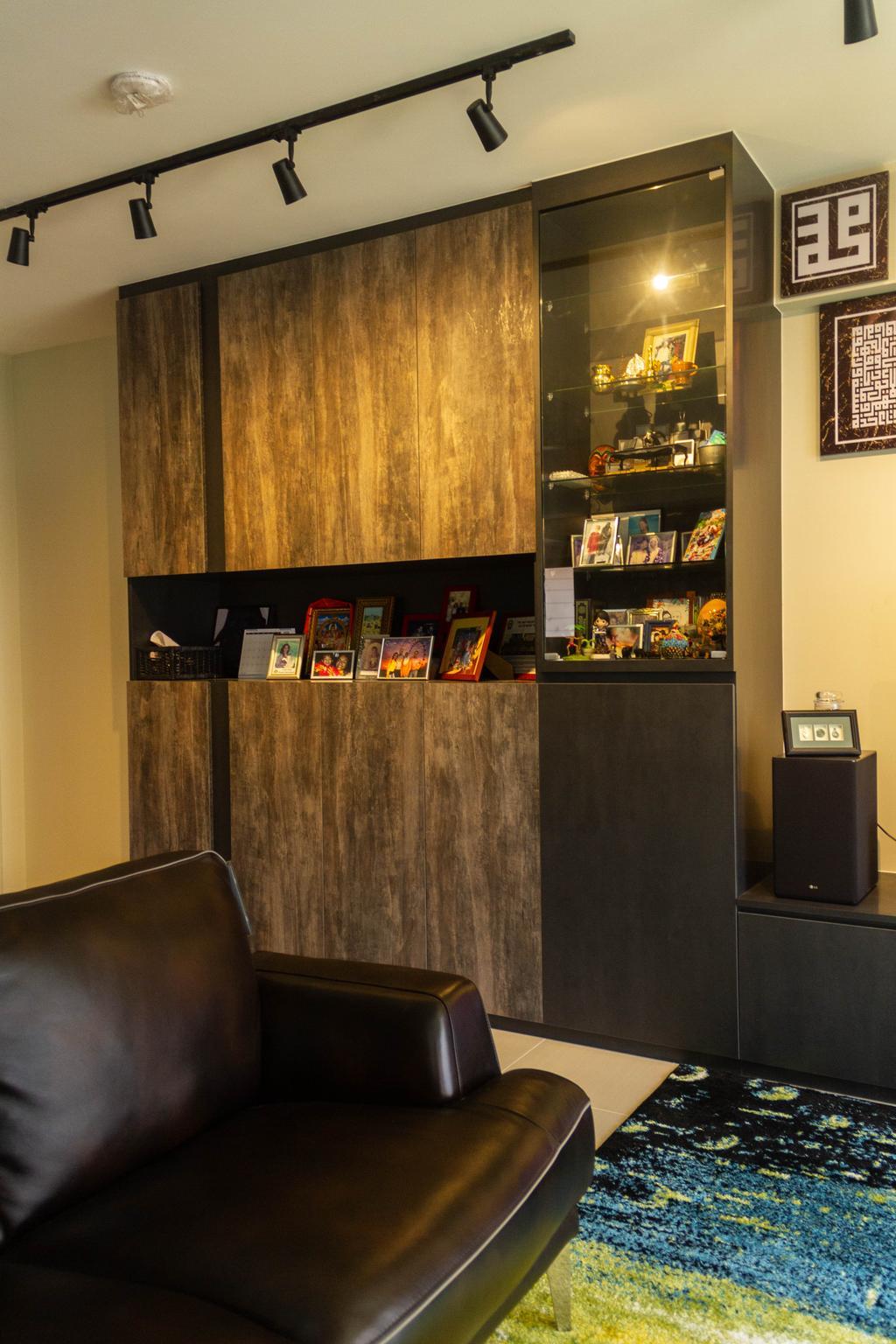 Contemporary, HDB, Living Room, Sengkang West Road, Interior Designer, Orange Interior
