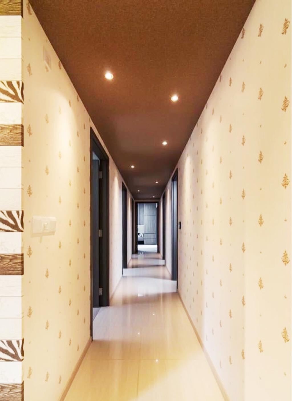 Contemporary, Condo, Living Room, Bellewaters, Interior Designer, Orange Interior