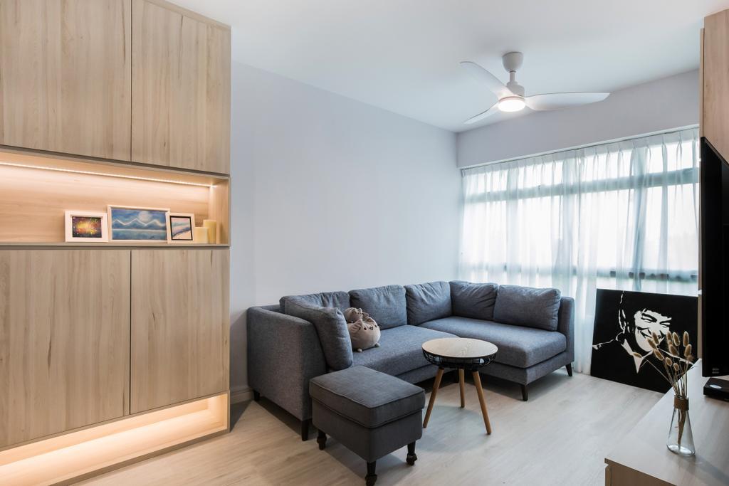 Contemporary, HDB, Living Room, Ang Mo Kio Avenue 1, Interior Designer, Inizio Atelier, Scandinavian
