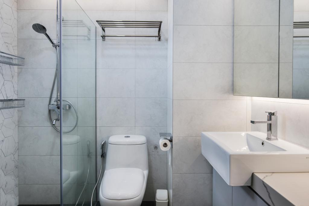 Contemporary, HDB, Bathroom, Ang Mo Kio Avenue 1, Interior Designer, Inizio Atelier, Scandinavian