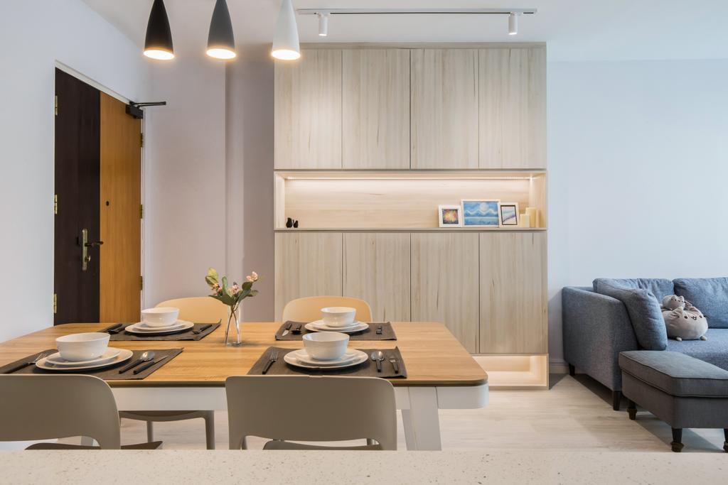 Contemporary, HDB, Dining Room, Ang Mo Kio Avenue 1, Interior Designer, Inizio Atelier, Scandinavian
