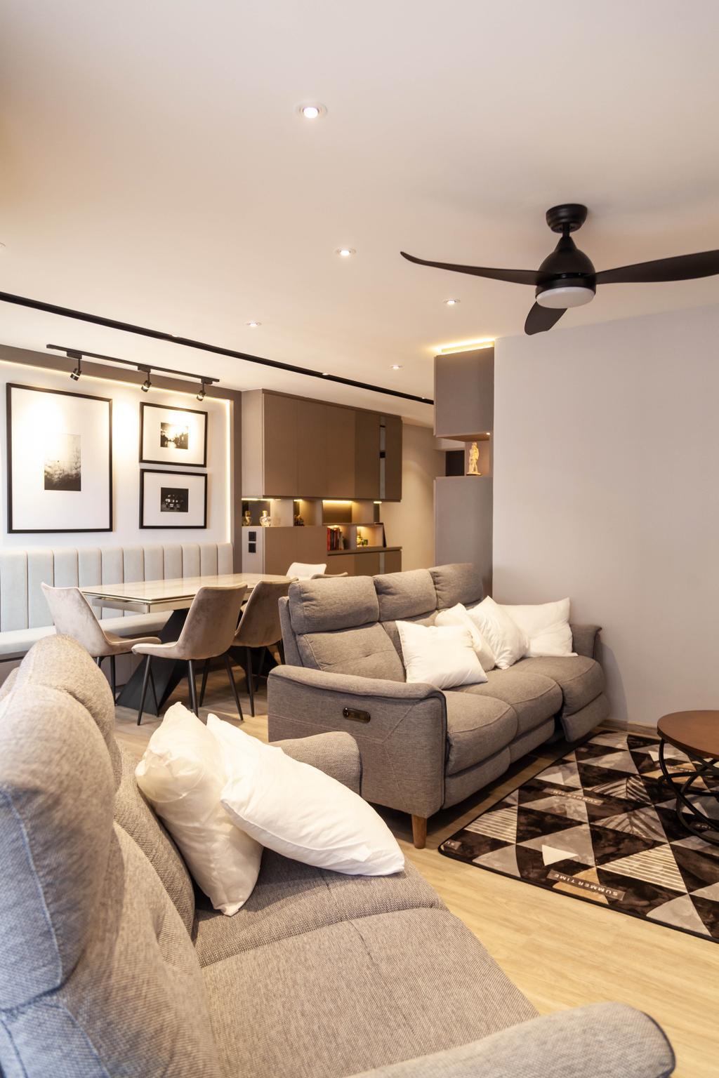 Contemporary, HDB, Redhill Road, Interior Designer, Orange Interior