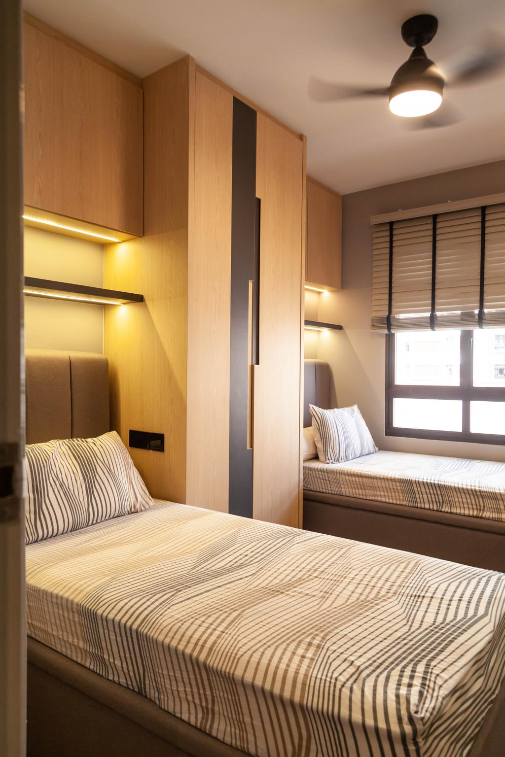 Contemporary, HDB, Bedroom, Redhill Road, Interior Designer, Orange Interior