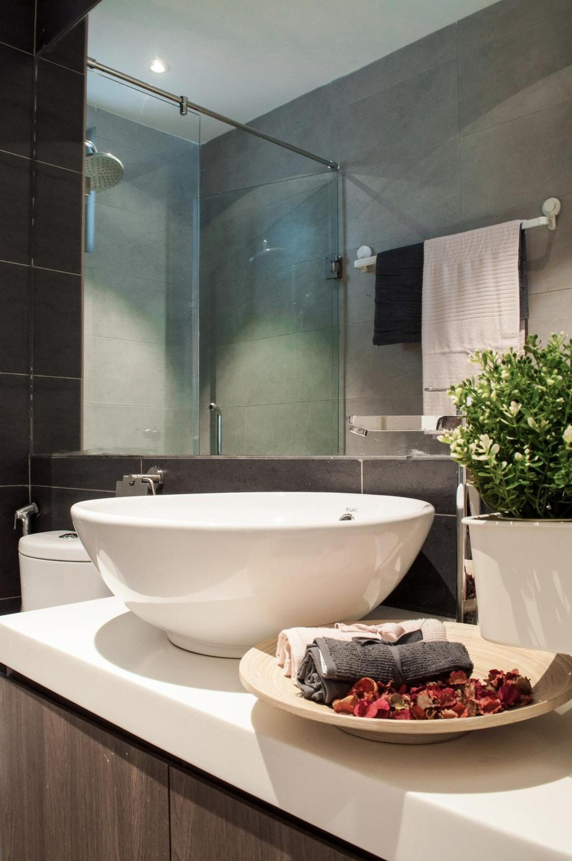 Modern, Condo, Bathroom, Damai Hillpark Residence, Damai Cheras, Interior Designer, Considered Design Sdn. Bhd., Contemporary