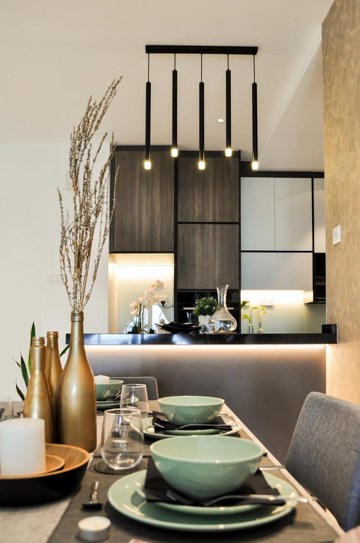 Modern, Condo, Dining Room, Damai Hillpark Residence, Damai Cheras, Interior Designer, Considered Design Sdn. Bhd., Contemporary