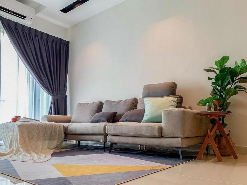 Modern, Condo, Living Room, Damai Hillpark Residence, Damai Cheras, Interior Designer, Considered Design Sdn. Bhd., Contemporary