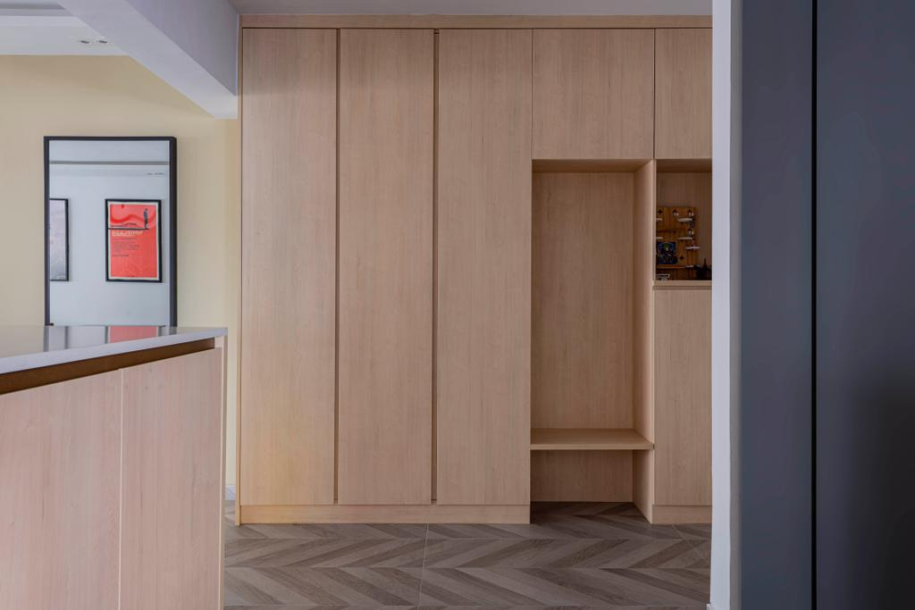 Contemporary, HDB, Living Room, Yishun Street 71, Interior Designer, New Chapter Design.com, Shoe Cabinet, Shoe Storage, Settee