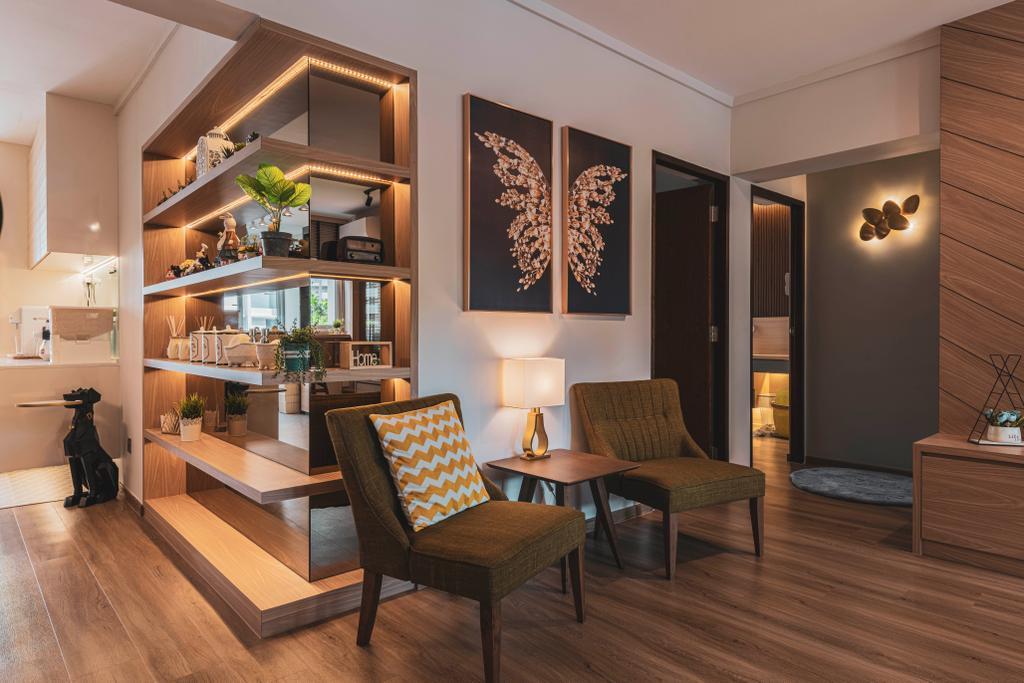 Contemporary, HDB, Living Room, Ang Mo Kio Avenue 3, Interior Designer, New Chapter Design.com