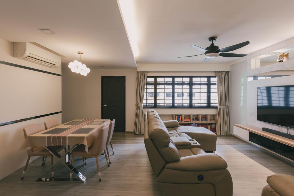 Modern, HDB, Living Room, Senja Road, Interior Designer, Tab Gallery, Contemporary