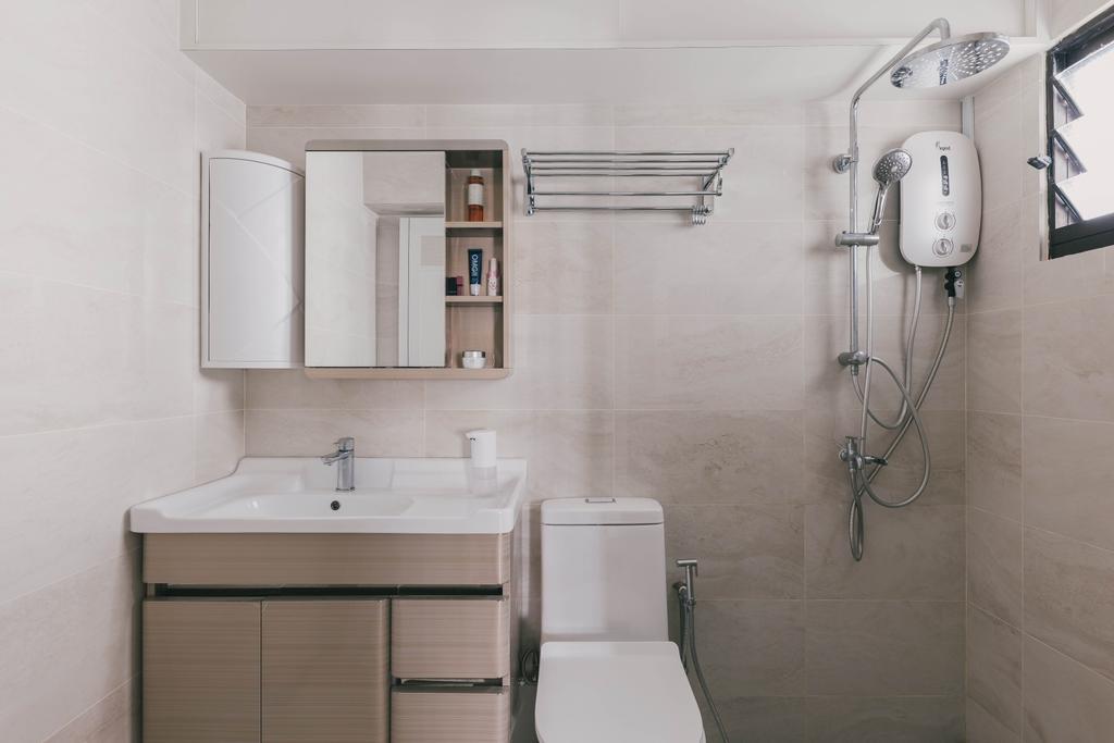 Modern, HDB, Bathroom, Senja Road, Interior Designer, Tab Gallery, Contemporary