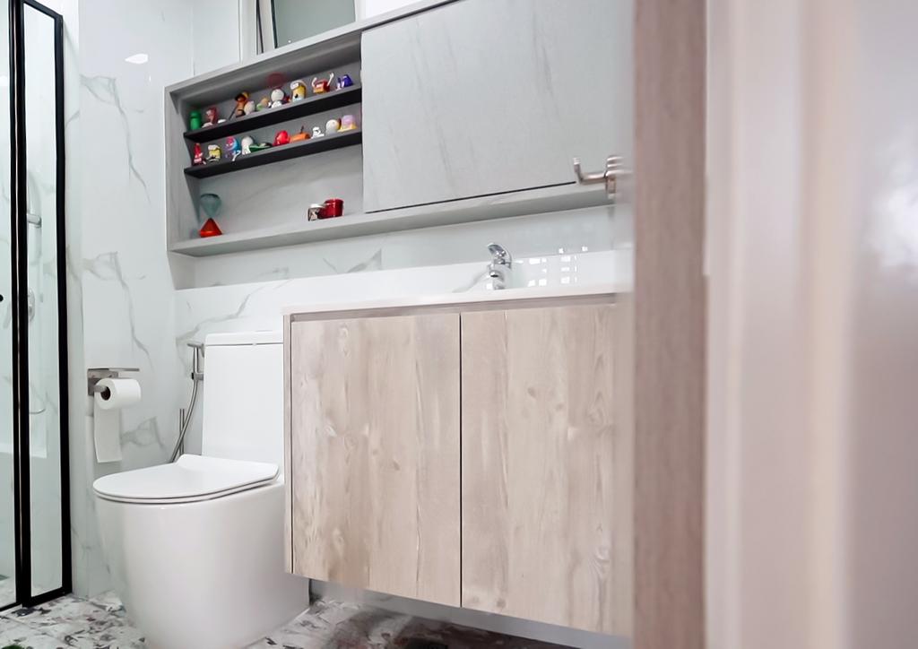 Scandinavian, Condo, Bathroom, The Centris, Interior Designer, Posh Home, Contemporary