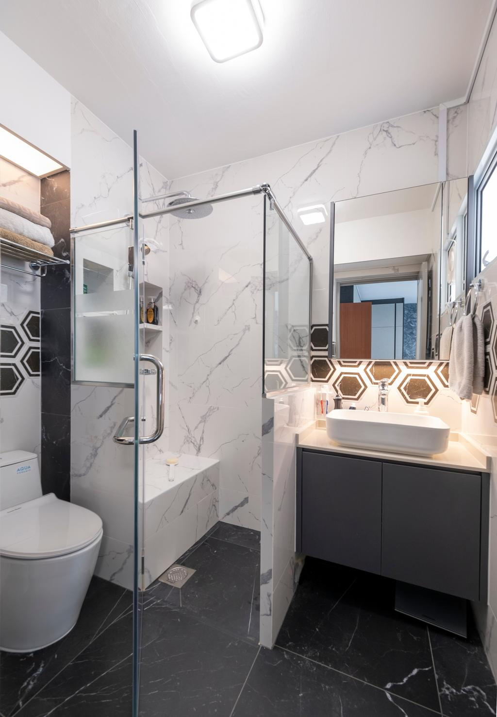 Modern, HDB, Bathroom, Serangoon Central, Interior Designer, Starry Homestead