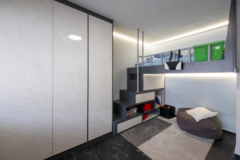 Modern, HDB, Bedroom, Serangoon Central, Interior Designer, Starry Homestead