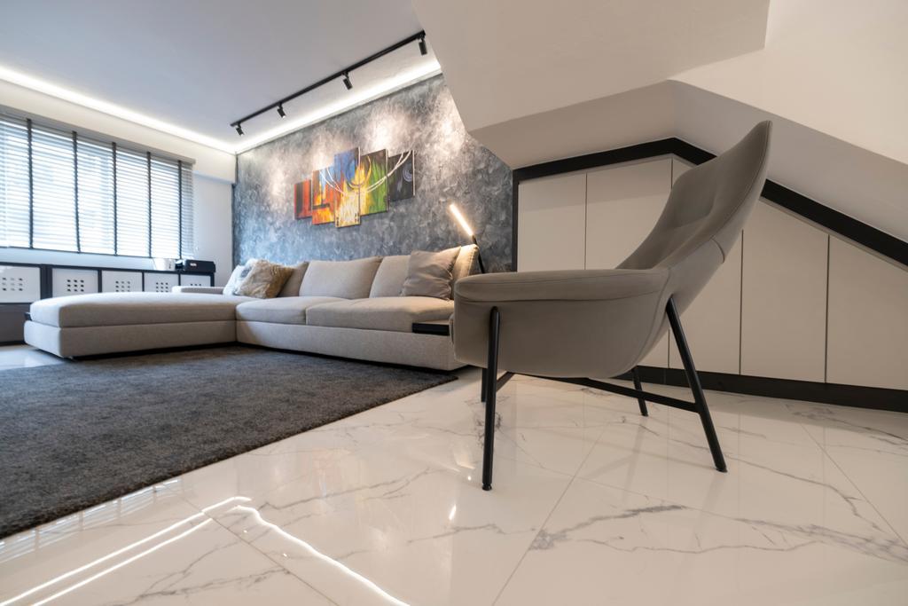 Modern, HDB, Living Room, Serangoon Central, Interior Designer, Starry Homestead