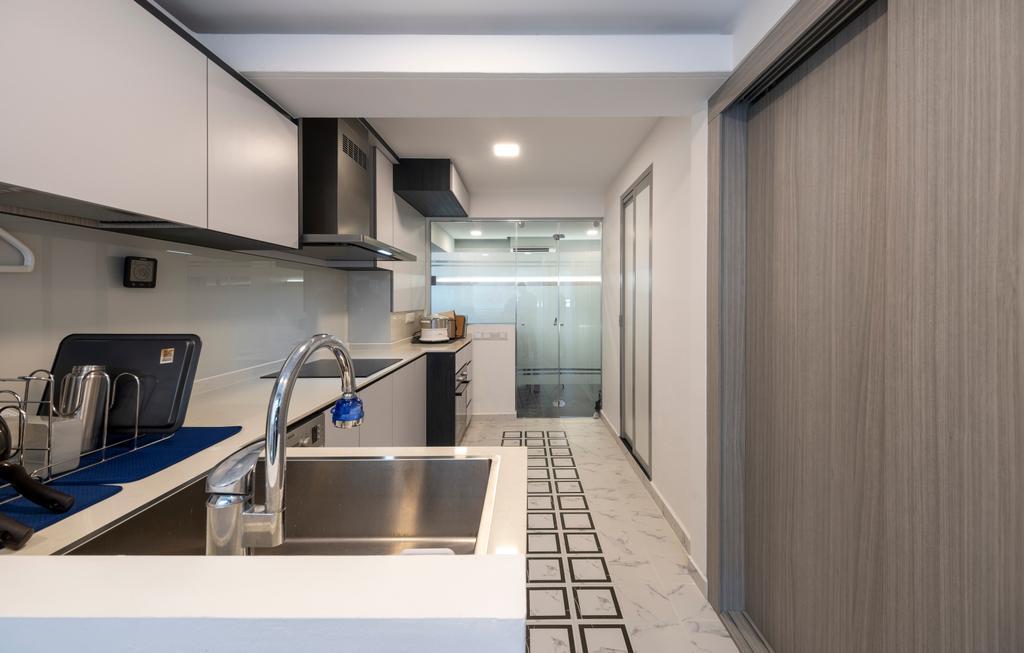 Modern, HDB, Kitchen, Serangoon Central, Interior Designer, Starry Homestead