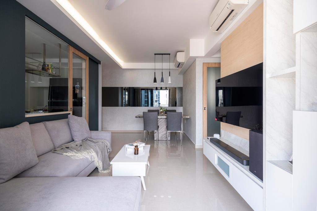 Modern, Condo, Living Room, Hundred Palms Residences, Interior Designer, Starry Homestead, Scandinavian