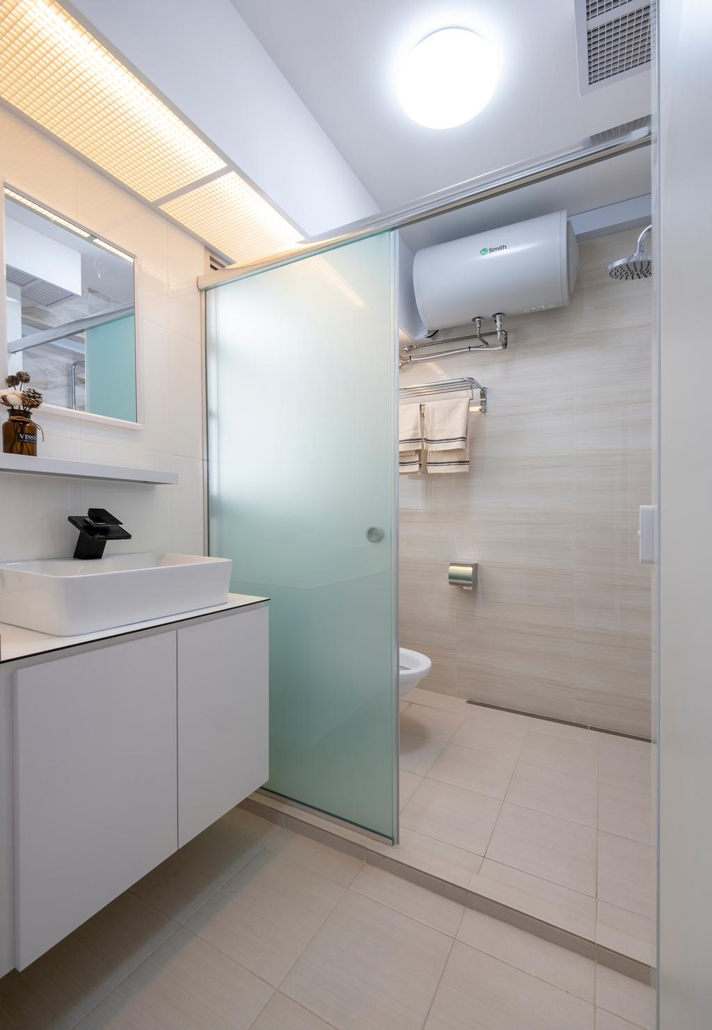Scandinavian, HDB, Bathroom, Northshore Drive, Interior Designer, Starry Homestead
