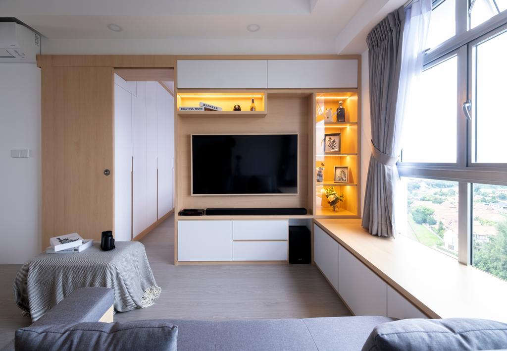 Scandinavian, HDB, Living Room, Northshore Drive, Interior Designer, Starry Homestead