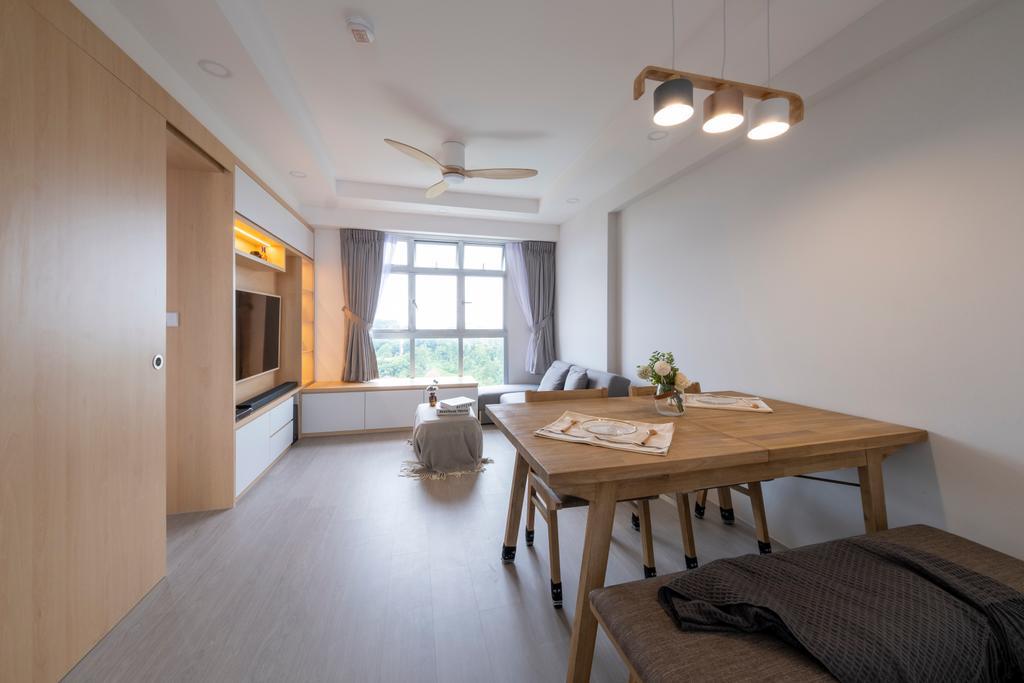 Scandinavian, HDB, Dining Room, Northshore Drive, Interior Designer, Starry Homestead