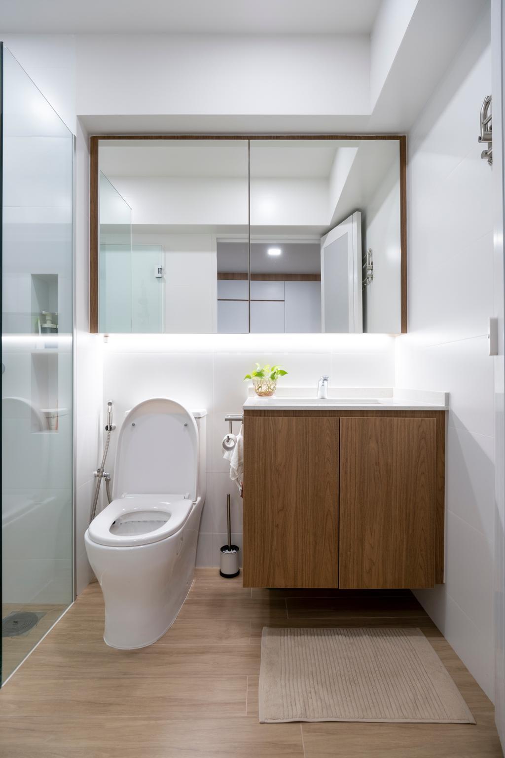 Scandinavian, HDB, Bathroom, Jurong West Street 65, Interior Designer, Starry Homestead