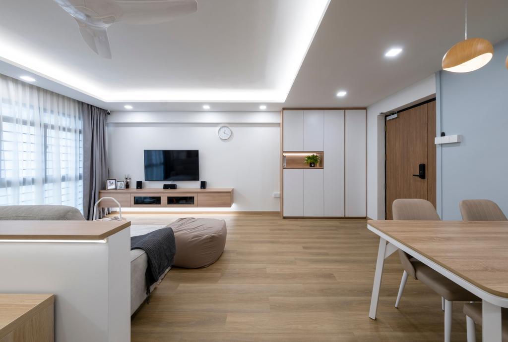 Scandinavian, HDB, Living Room, Jurong West Street 65, Interior Designer, Starry Homestead