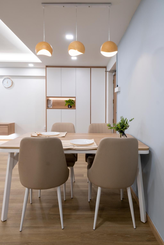 Scandinavian, HDB, Dining Room, Jurong West Street 65, Interior Designer, Starry Homestead