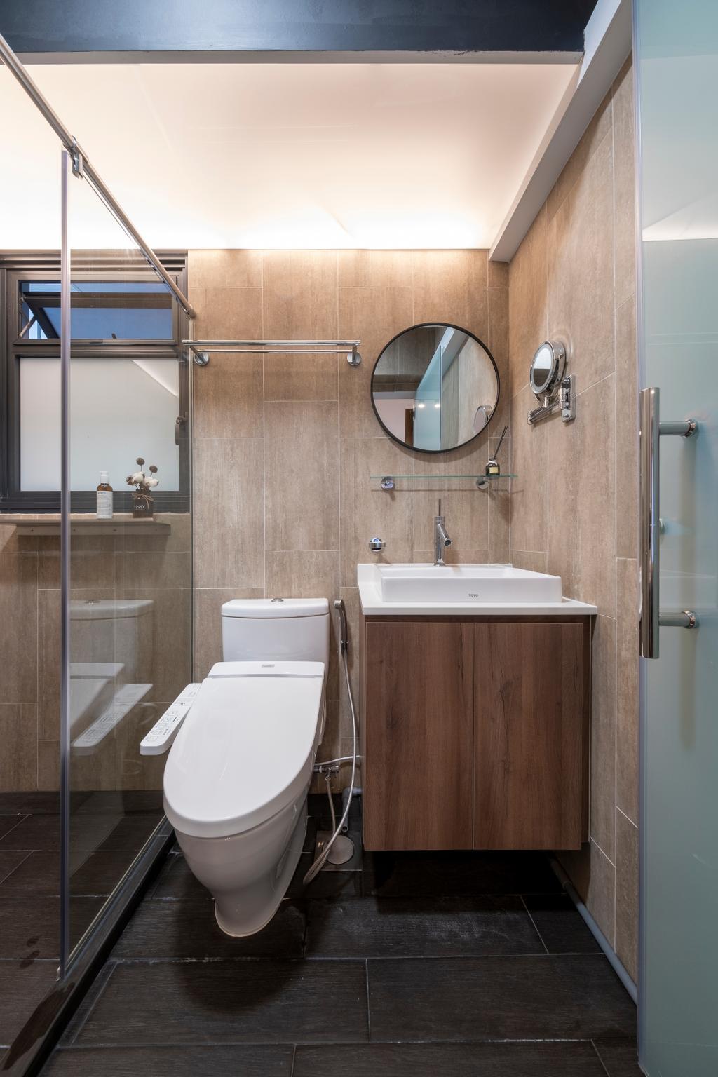 Modern, HDB, Bathroom, Alkaff Crescent, Interior Designer, Starry Homestead