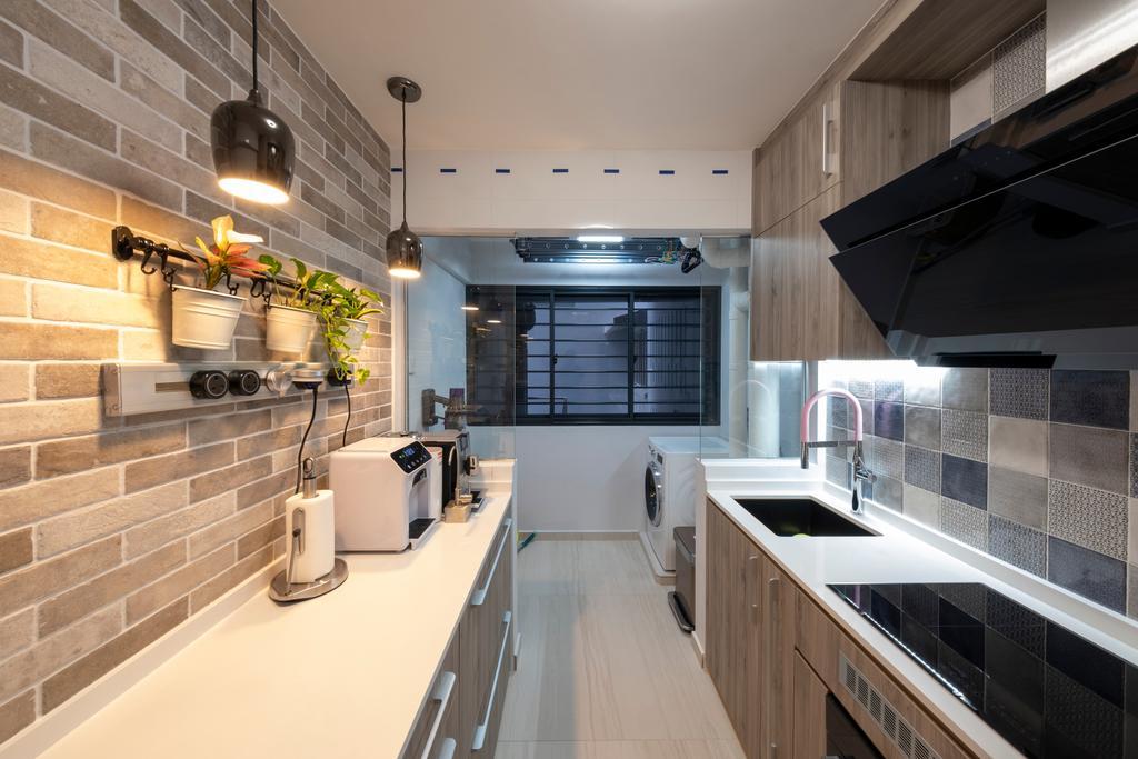 Modern, HDB, Kitchen, Alkaff Crescent, Interior Designer, Starry Homestead