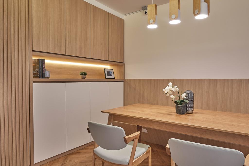 Scandinavian, HDB, Dining Room, Sin Ming Road, Interior Designer, United Team Lifestyle