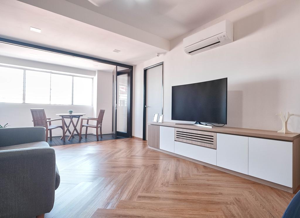 Scandinavian, HDB, Living Room, Sin Ming Road, Interior Designer, United Team Lifestyle