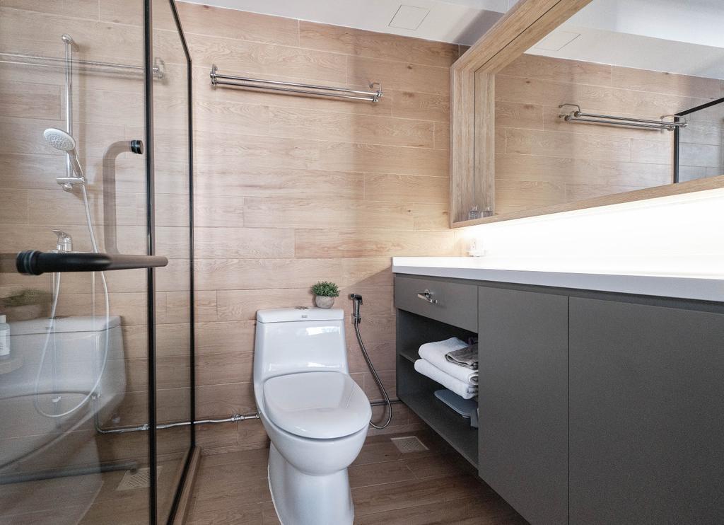 Scandinavian, HDB, Bathroom, Sin Ming Road, Interior Designer, United Team Lifestyle