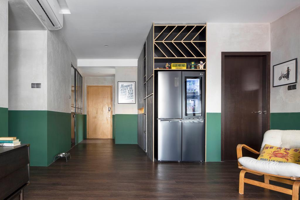 Eclectic, Condo, Living Room, Atrium Residences, Interior Designer, Fuse Concept, Green