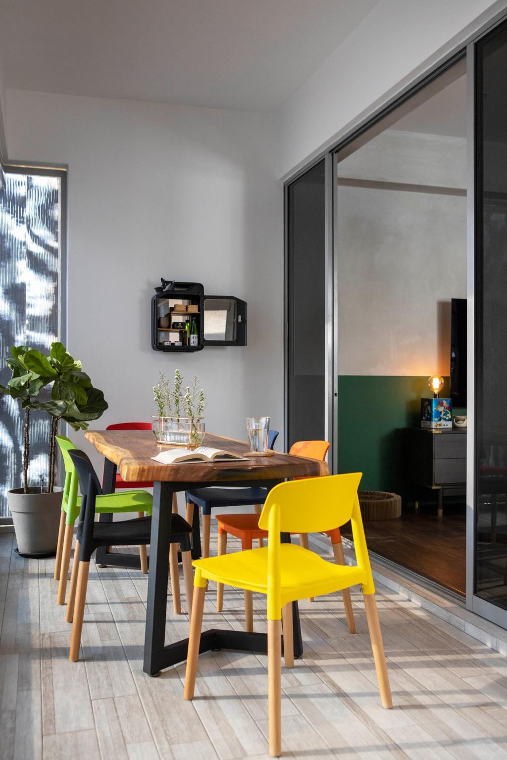 Eclectic, Condo, Balcony, Atrium Residences, Interior Designer, Fuse Concept