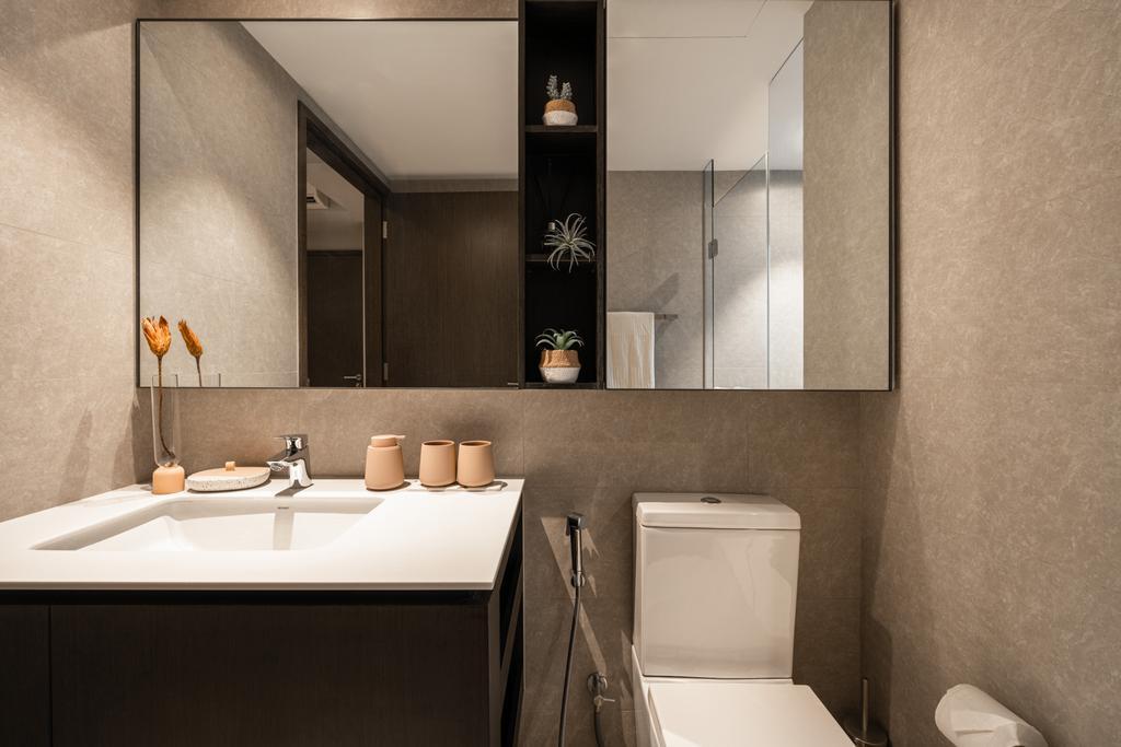 Modern, Condo, Bathroom, Inz Residences, Interior Designer, Mr Shopper Studio, Scandinavian