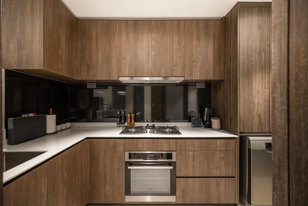 Modern, Condo, Kitchen, Inz Residences, Interior Designer, Mr Shopper Studio, Scandinavian
