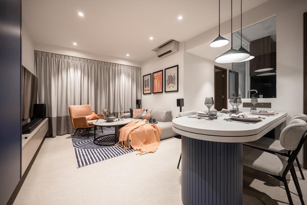 Modern, Condo, Dining Room, Inz Residences, Interior Designer, Mr Shopper Studio, Scandinavian