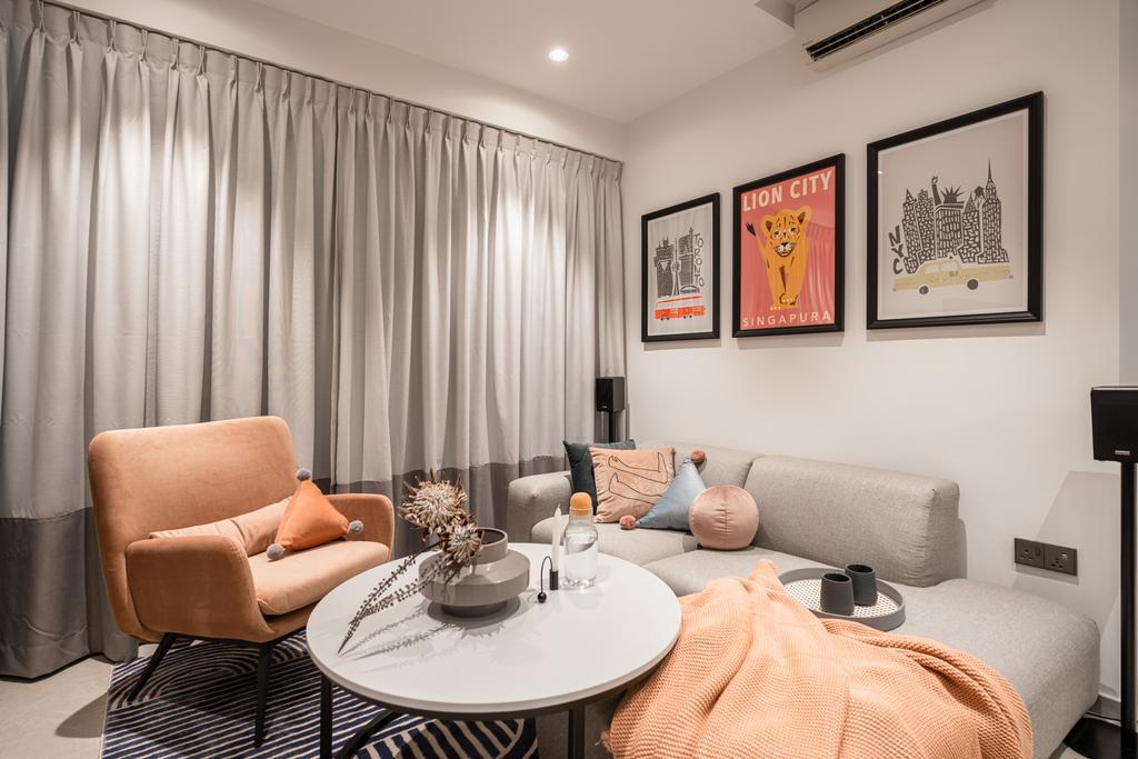 Modern, Condo, Living Room, Inz Residences, Interior Designer, Mr Shopper Studio, Scandinavian