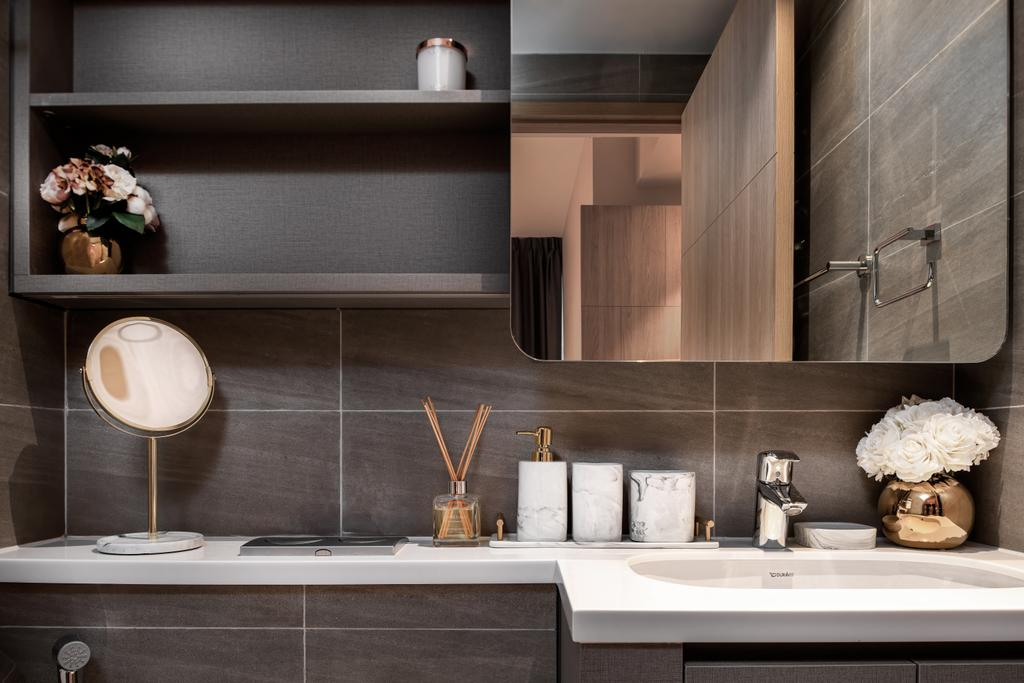 Scandinavian, Condo, Bathroom, Hundred Palms Residences, Interior Designer, Mr Shopper Studio