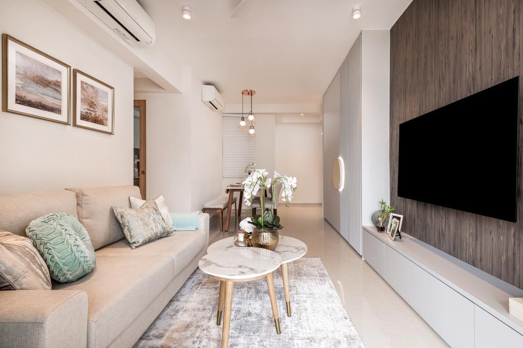 Scandinavian, Condo, Living Room, Hundred Palms Residences, Interior Designer, Mr Shopper Studio
