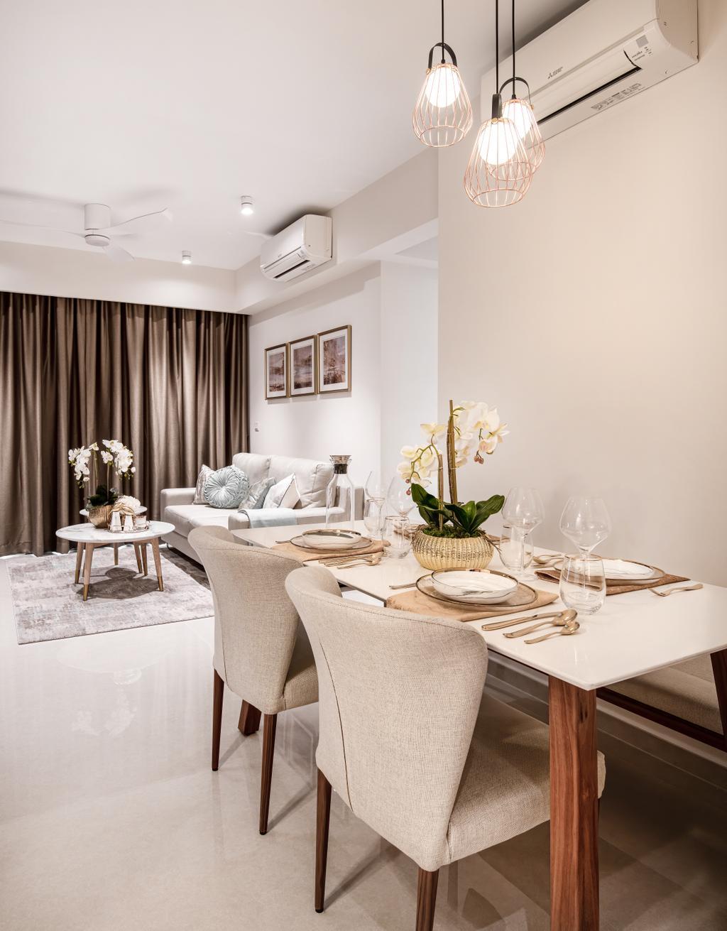 Scandinavian, Condo, Dining Room, Hundred Palms Residences, Interior Designer, Mr Shopper Studio