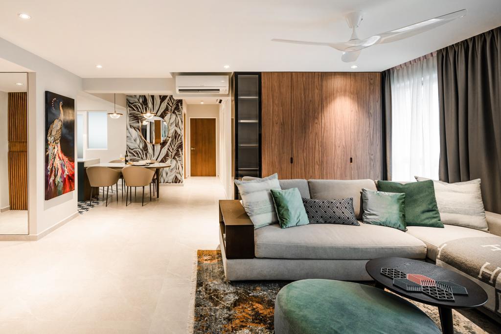 Modern, HDB, Living Room, Alkaff Vista, Interior Designer, Mr Shopper Studio, Contemporary