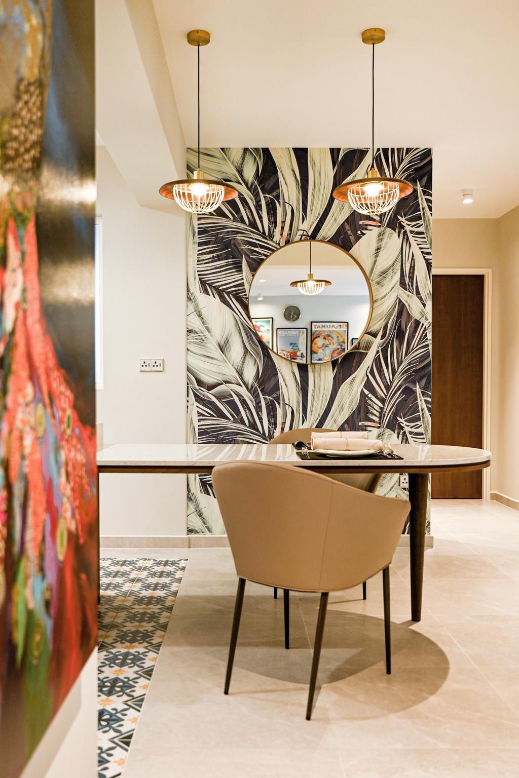 Modern, HDB, Dining Room, Alkaff Vista, Interior Designer, Mr Shopper Studio, Contemporary