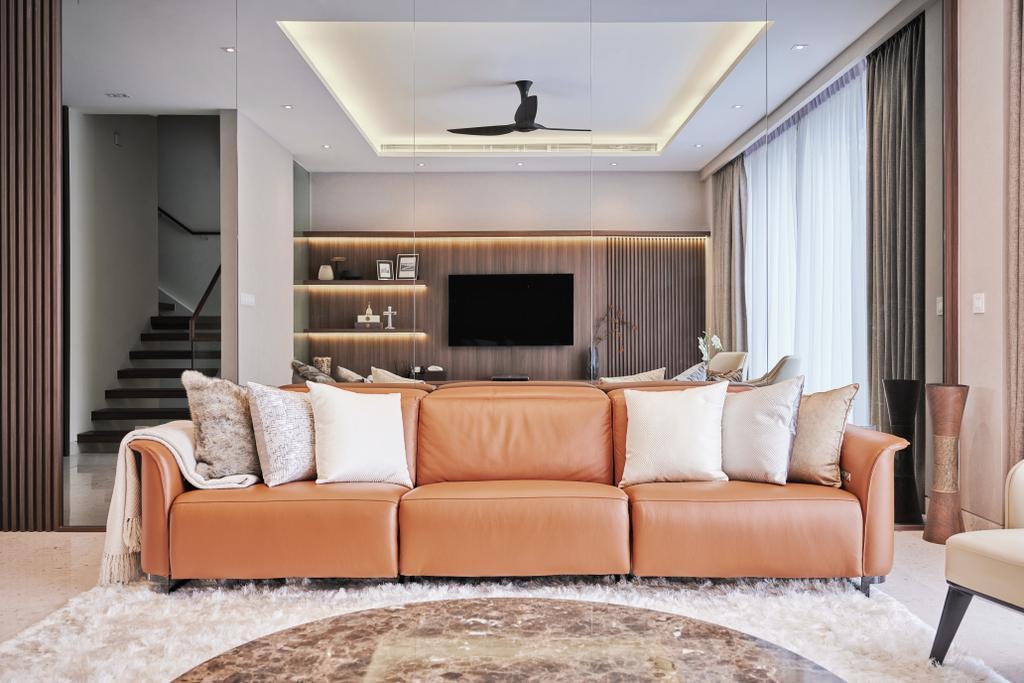 Modern, Landed, Living Room, Cayman Residence, Interior Designer, Mr Shopper Studio, Contemporary